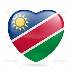 Heart Icon of Namibia  #graphicriver