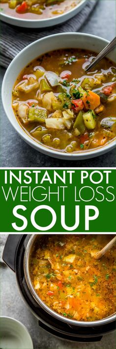 Instant Pot Weight Loss Cabbage Soup is loaded. - Timothy Edwards - Instant Pot Weight Loss Cabbage Soup is loaded. Instant Pot Weight Loss Cabbage Soup is loaded with fresh vegetables. It's high in flavor, yet naturally low in fat and calo - Instant Pot Pressure Cooker, Pressure Cooker Recipes, Slow Cooker, Pressure Cooking, Diet Recipes, Cooking Recipes, Healthy Recipes, Healthy Meals, Diet Tips