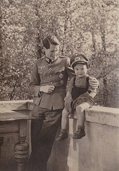 "reichstagram: "" A Wehrmacht officer and his son. """
