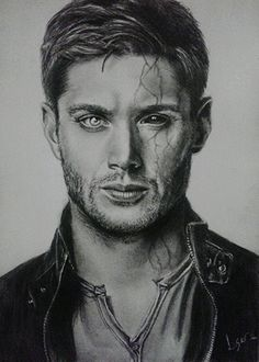 Dean Winchester by Lucas Andrade (Drawing),  21x29 cm by Lucas Andrade Drawing of Dean Winchester by Lucas Andrade (brazil)