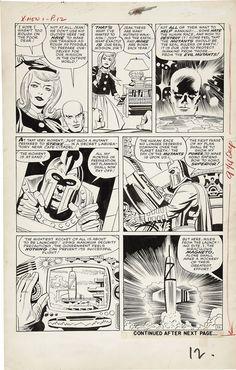 Stan Lee, Jack Kirby, Paul Reinman, Sam Rosen | X-Men #1, page 11, 1963. Original page, uncoloured. | #comics #marvel