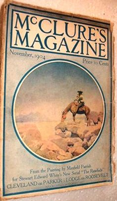 McClure's Magazine cover by Maxfield Parrish, November, 1904