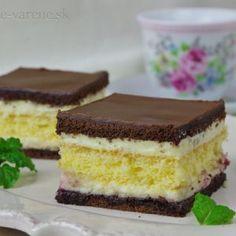 Maďarský krémeš - My site Mini Desserts, Pavlova, Desert Recipes, Graham Crackers, Food Hacks, Nutella, Tiramisu, Sweet Recipes, Cheesecake