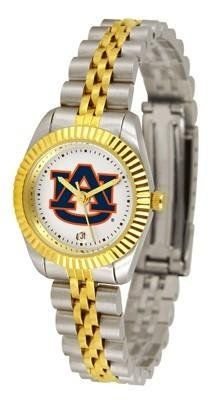 Auburn University Tigers AU NCAA Womens 23Kt Gold Watch by SunTime. $134.95. 2-Tone Stainless Steel Band. Officially Licensed Auburn Tigers Women's Two-Tone Executive Watch. Links Make Watch Adjustable. Women. 23kt Gold-Plated Bezel. The ultimate fans statement our Ladies Executive timepiece offers women a classic business-appropriate look. Features a 23kt gold-plated bezel stainless steel case and date function. Secures to your wrist with a two-tone solid stainless ...