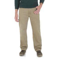 Wrangler Men's Advanced Comfort Regular Fit Jean, Size: 38 x 32, Beige