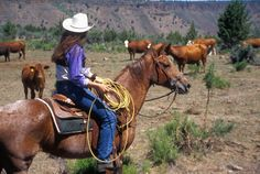 ❤ Cowgirls Oregon rancher Cowboys And Angels, Real Cowboys, Cowgirl And Horse, Cowboy And Cowgirl, Southern Girls, Country Girls, Cowgirl Pictures, Western Riding, American Frontier