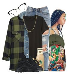 """Million ~ Tink"" by retrovintagepizza ❤ liked on Polyvore featuring NIKE, Nickelodeon, Monki, Madewell, G-Shock, GlassesUSA and David Yurman"
