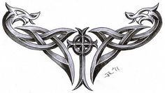 celtic cross + dragons by roblfc1892.deviantart.com on @deviantART