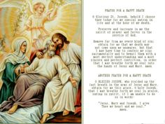 <3 Jesus with his dying foster father St. Joseph and his Mother.  Beautiful prayer.