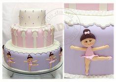 Ballerina Cake by Arte da Ka via Flickr Love the colors and the ballerinas