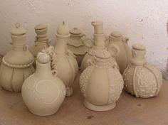 Perfume bottles/ Fine Mess Pottery