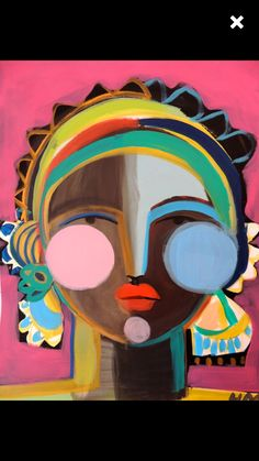 Colourful delightful face by Artist Hayley Mitchell Cuadros Diy, Abstract Face Art, Figurative Kunst, Art Plastique, Love Art, Painting Inspiration, Diy Art, Creative Art, Art Lessons