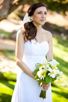 White Yellow and Green Bouquet