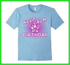 5b04a13e6 Mens Keep Calm It's My 20th Birthday T-Shirt for Women 2XL Baby Blue -. Funny  Tshirt ...