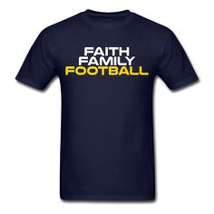 Faith Family Football shirt - Sport & Fitness Motivation from SportzTeez Shirts and Apparel.