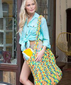 DIY: crochet beach bag ✭Teresa Restegui http://www.pinterest.com/teretegui/ ✭ ♥Teresa Restegui http://www.pinterest.com/teretegui/ ★♥