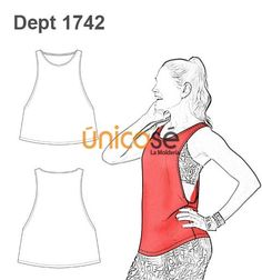 Sports top 1742 from Unicose Underwear Pattern, Bra Pattern, Pants Pattern, Sewing Patterns Free, Free Sewing, Sewing Tutorials, Clothing Templates, Clothing Patterns, Sport Fashion