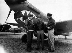 Col_Bennett And Maj C.H. Yan_Group Commanding Officers_Of_A Fighter Group Of The Chinese American Composite Wing