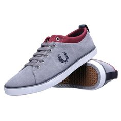 13a073647bb Fred Perry - Chaussure Hallam Printed B6286 119 Cloudburst Gris - pas cher  Achat   Vente Baskets homme
