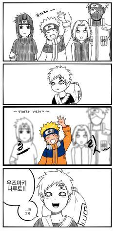 나루토밖에 모르는 바보..-----Gaara and Naruto, best friends