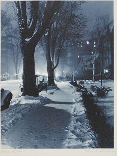 """Thomas O. Sheckell """"Winters Night"""" 1937"""