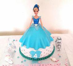 Cinderella Barbie Birthday Cake - THE SWEET ESCAPE