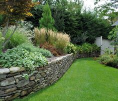 Innovative stone wall garden ideas 17 best ideas about stone wall gardens. Cheap Retaining Wall, Garden Retaining Wall, Stone Retaining Wall, Landscaping Retaining Walls, Hillside Landscaping, Stone Walkways, Landscaping Around House, Landscaping With Rocks, Landscaping Ideas