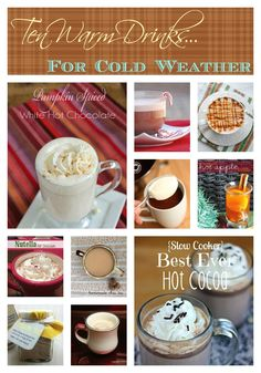 Ten Warm Drink Recipes by Food Bloggers   www.InSearchOfYummyness.com   #tea #hotchocolate