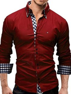 Cheap men brand dress shirt, Buy Quality mens dress shirts directly from China men dress shirt brand Suppliers: Mens Dress Shirt Hawaii Casual Camisa Slimming Social Masculina Para Hombre Vestir Brand Clothing Chemise Vetement Homme Cheap Mens Shirts, Mens Shirts Online, Men Online, Camisa Formal, Fitted Black Dress, Herren Outfit, Pullover, Work Casual, Formal Casual