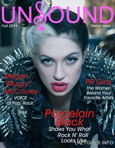 """(Porcelain Black) - I've been Listening to this girl since she was the sole member of her Alternative band """"Porcelain And The Tramps."""" I love her Rock & Roll style, her over-accentuated red lipstick and of course her statement multi-tonal hair colour!"""