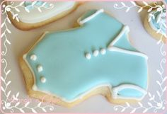 These large cookies have a classic lemony flavor, a chewy texture, and glistening, crackly tops created with a double sprinkling of sanding sugar. Sugar Cookies Recipe, No Bake Cookies, Cookie Recipes, Cookie Ideas, Baby Shower Snacks, Baby Shower Cookies, Old Fashioned Sugar Cookie Recipe, Onesie Cookies, Cookie Bars