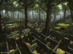 Forest maze illustration Maze, Art Google, Game Design, Fantasy, Illustration, Outdoor Decor, Backgrounds, Pictures, Google Search
