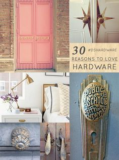 30 Reasons to Love Hardware via Design Sponge #AdoreYourDoors