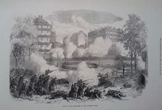 1871 PRINT ATTACK ON THE BARRICADES AT THE PANTHEON,PARIS  | eBay