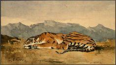 Tiger - Eugene Delacroix
