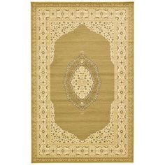 "World Menagerie Fonciere Tan Area Rug Rug Size: 10'6"" x 16'5"""