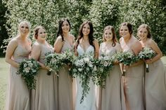 These bridesmaids looked gorgeous in their neutral linen coloured bridesmaids dresses, and their amazing bridesmaids bouquets stood out so much! Bridesmaid Bouquet, Bridesmaids, Bridesmaid Dresses, Wedding Dresses, Wedding Photos, Party Photos, Looking Gorgeous, Weddingideas, Wedding Details