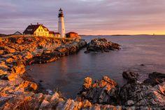 "♜␟ Portland Head Light, Maine, USA ""Portland Head Light"" by Benjamin Williamson"