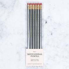 She Sees Possibility Everywhere Motivational Pencil Gray