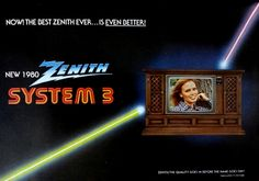 New 1980 ZENITH SYSTEM 3 Color Television brochure