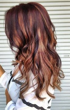Fall hair color? -- Haven't highlighted my hair in 1/2 a decade, but if I chose to start again, I think I'd go with something like this.