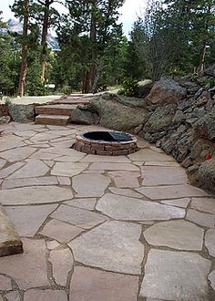 patios flagstone walkways steps stairs pavers - Patio Stone Ideas With Pictures