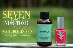 Looking for a non-toxic pedi? Here's a list of 7 Eco-friendly, Non-toxic  Glam Polish Brands that are safe for mom and the little one. www.livingsurrendered.com   #nontoxic #nailpolish #ecofriendly #vegan #crueltyfree