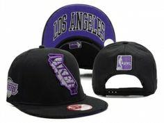 Casquette NBA Los Angeles Lakers Tous Noir Pourpre : Casquette Pas Cher