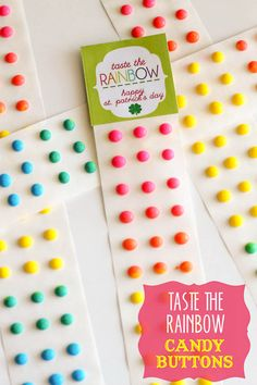 St. Patrick's Day Candy Button Prints { lilluna.com } Bright & colorful & kids will love this treat!
