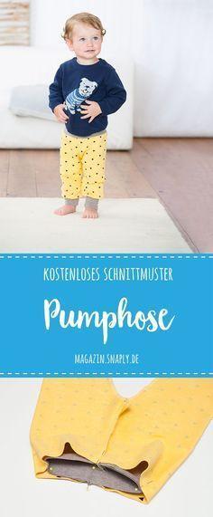Kostenloses Schnittmuster: Pumphose für Babies und Kleinkinder