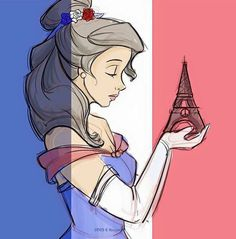 Belle (disney) mourns her beloved Paris Disney Kunst, Disney Nerd, Disney Belle, Disney Fan Art, Disney Girls, Disney Fanatic, Disney Beauty And The Beast, Disney And More, Disney Love