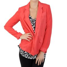 Hailey Jeans Co Juniors Long-sleeve Open Front Blazer $19.99 (save $30.00)