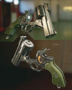 ArtStation - Araea Model 30 revolver, Ben Bolton