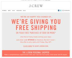 remarketing free shipping sign up